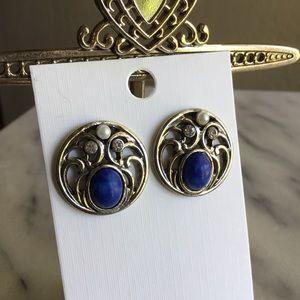Vintage Jeweled Post Earrings